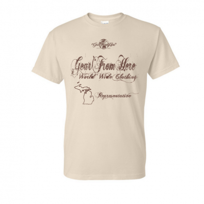 Representation tan t-shirt