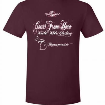 Representation maroon t-shirt