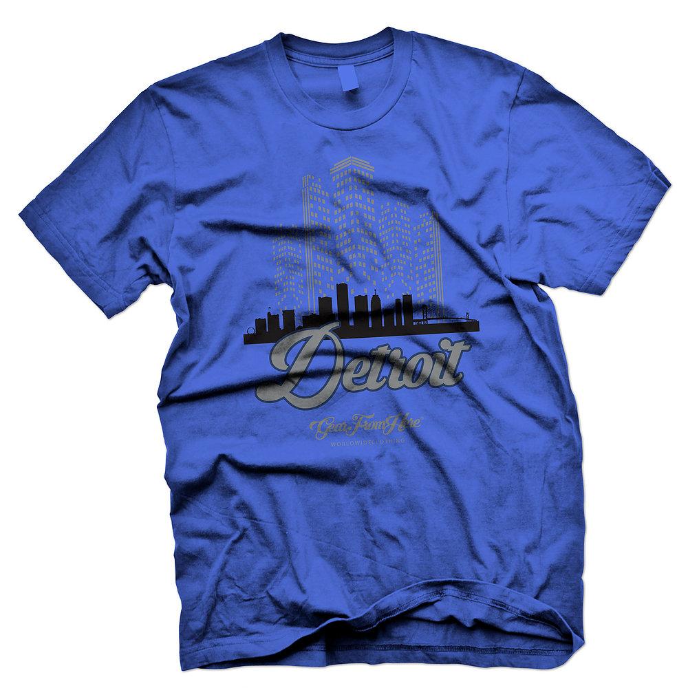 Detroit blue graphic tshirt
