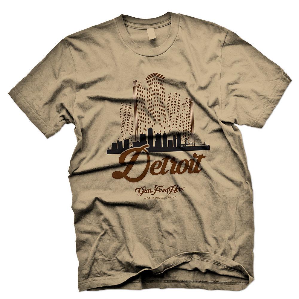Detroit tan graphic tshirt