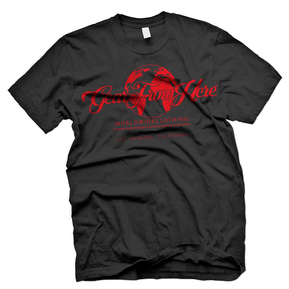 Big logo Los Angeles black t-shirt
