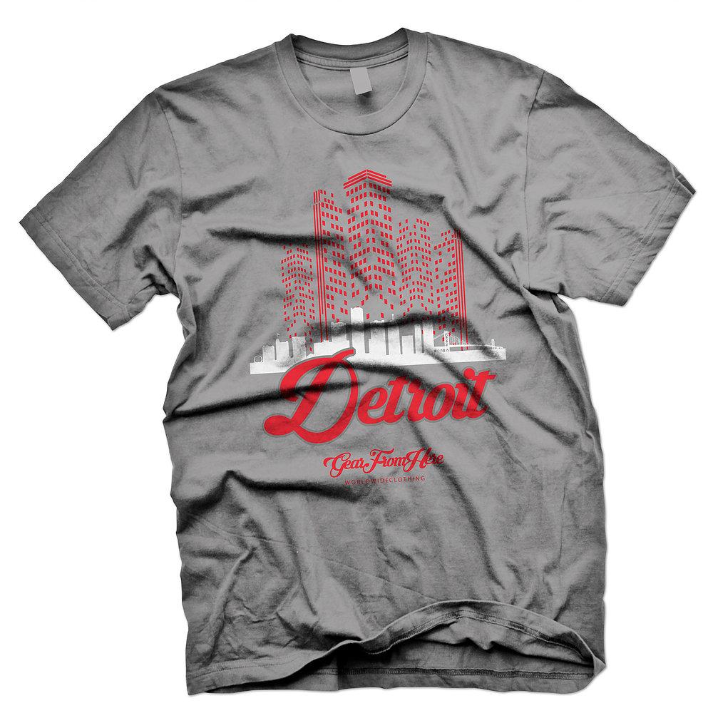 Detroit gray graphic tshirt