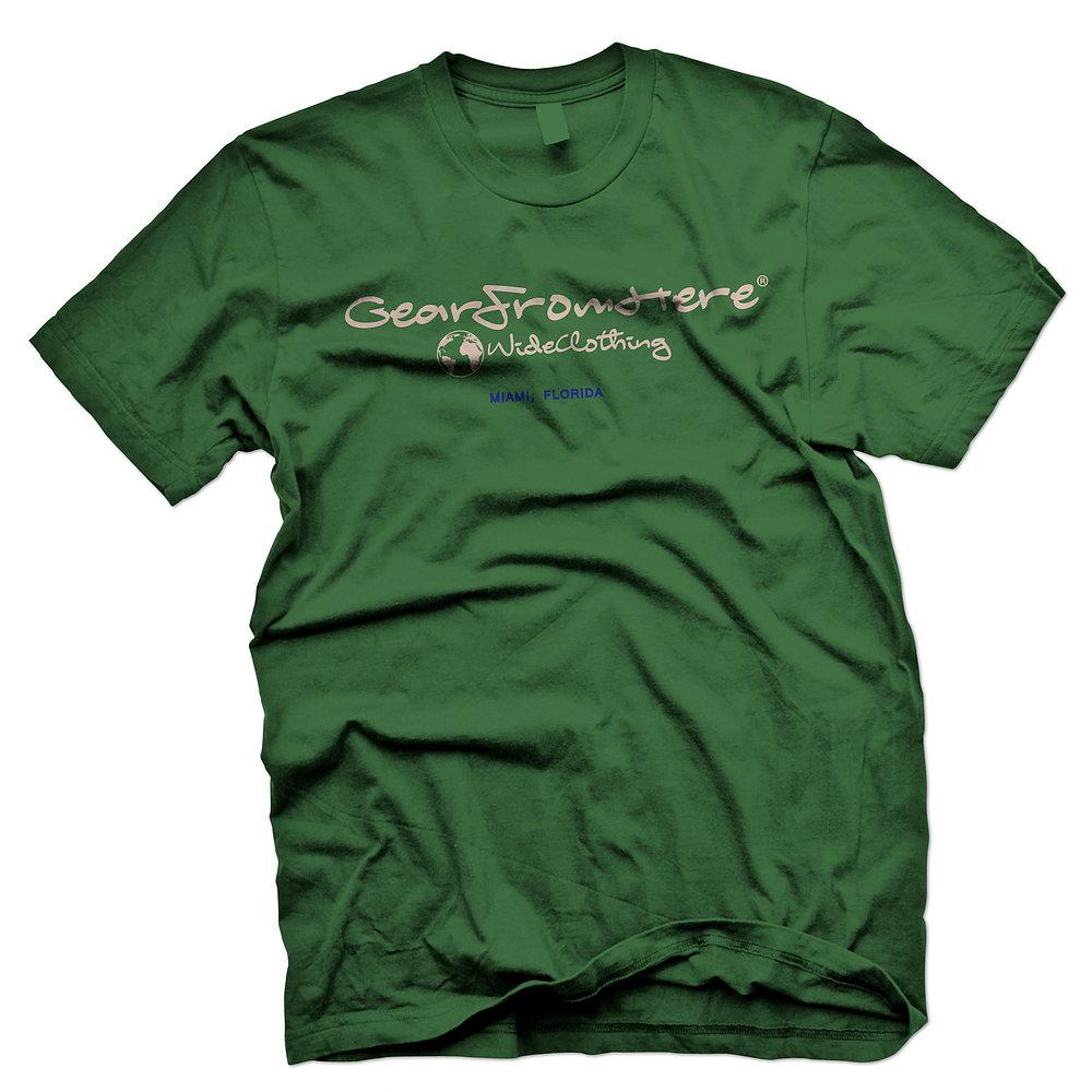 WorldwideClothing Miami green simple t-shirt