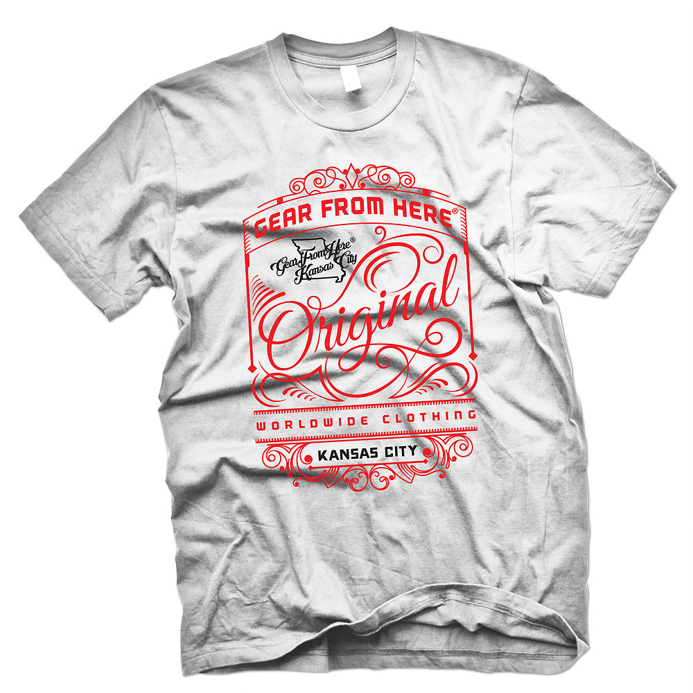 Gear From Here white Original t-shirt