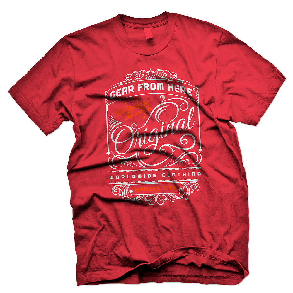 Gear From Here red Original t-shirt