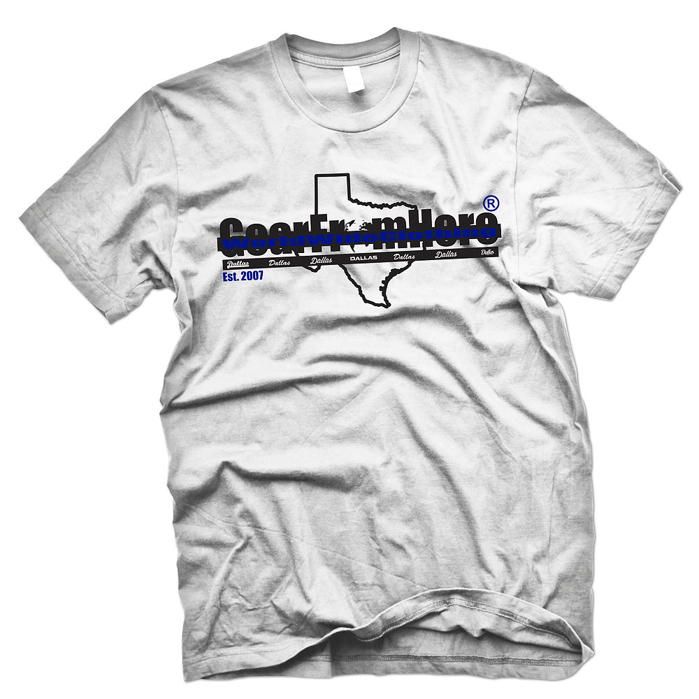 WorldwideClothing Texas white t-shirt