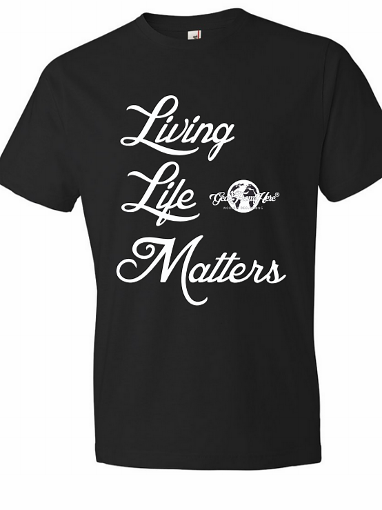 Living Life Matters men's black tshirt