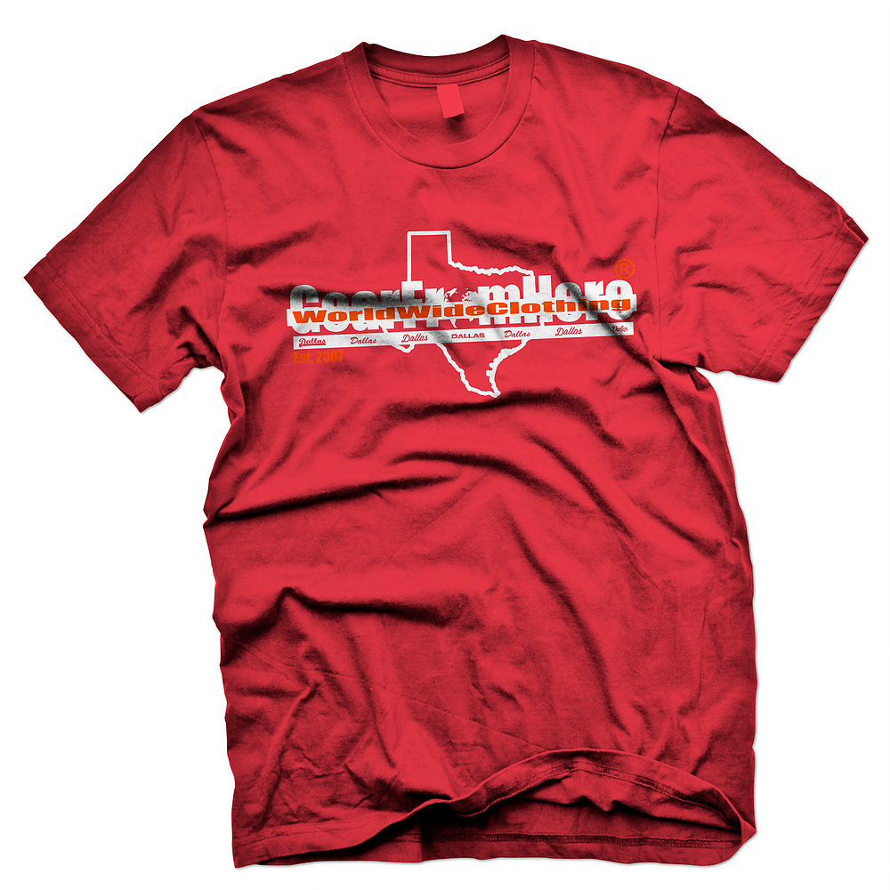 WorldwideClothing Texas red t-shirt