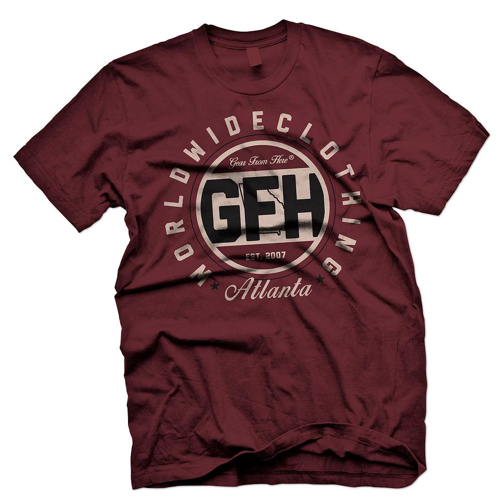 GFH Atlanta maroon t-shirt