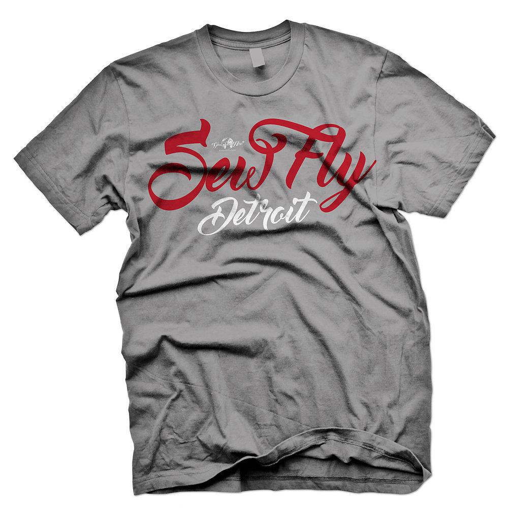 SewFly Detroit gray tshirt